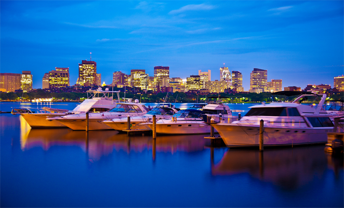 The Boston Skyline on the Charles River
