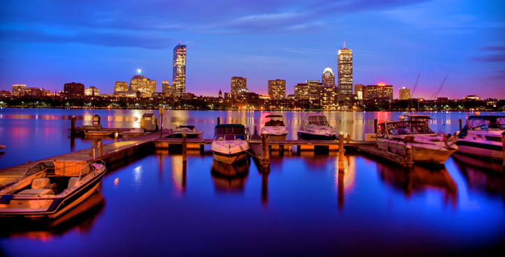 HDR Photo of Boston Skyline on the Charles River