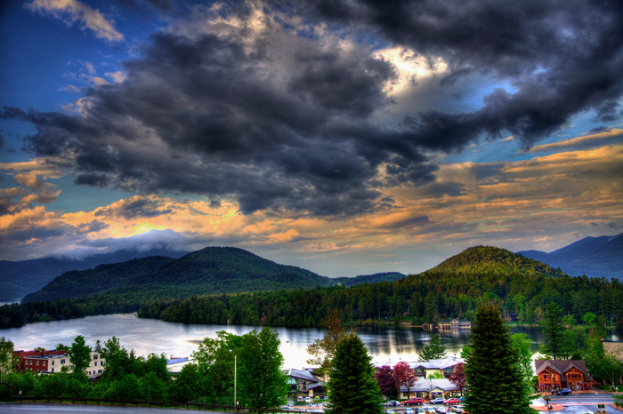 Mirror Lake in Lake Placid, NY.
