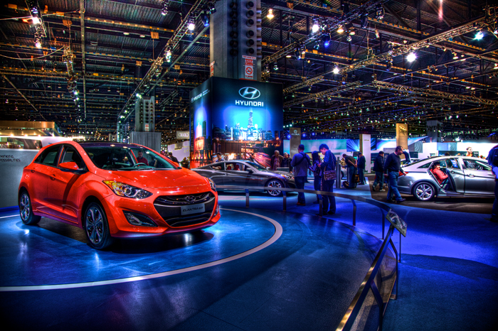 2012 Chicago Auto Show featuring Hyundai