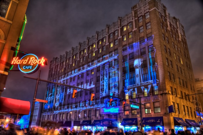 Hampton Inn Transformed into Bud Light Hotel in Downtown Indianapolis for Super Bowl XLVI
