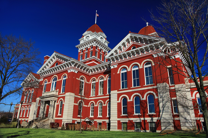 The Old Lake County Courthouse in Crown Point, Indiana.