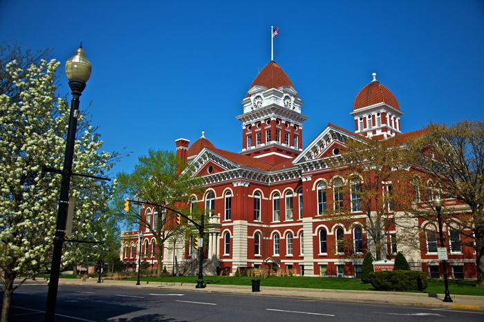 The old Lake County Courthouse in Crown Point, Indiana
