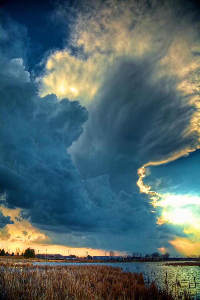 Storm Cell Development over Matteson, Illinois – 3/15/2012
