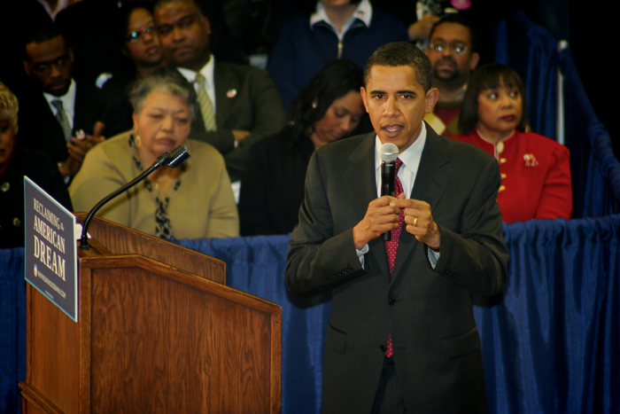 President Obama at Gary Roosevelt HS in Northwest Indiana
