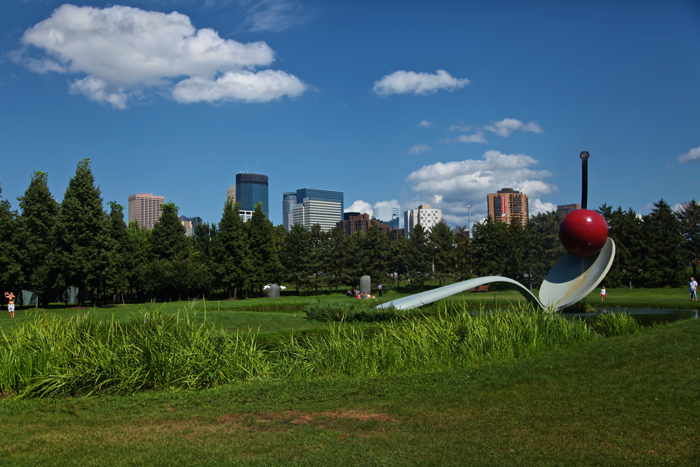 Minneapolis Sculpture Garden with Spoonbridge and Cherry