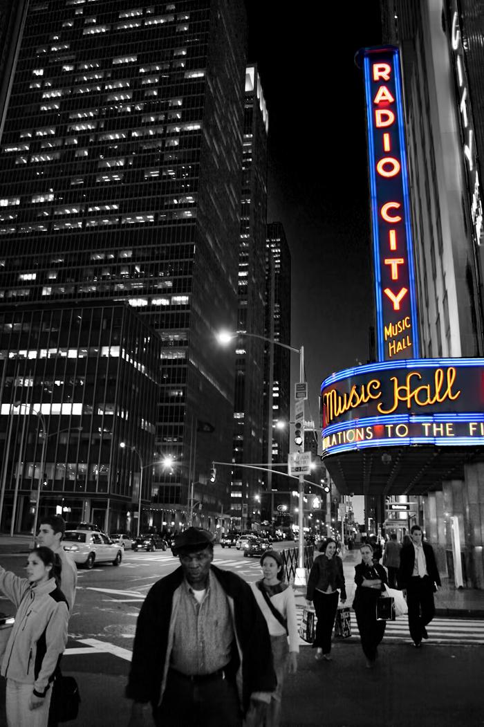 Radio City Music Hall color spotting in New York City