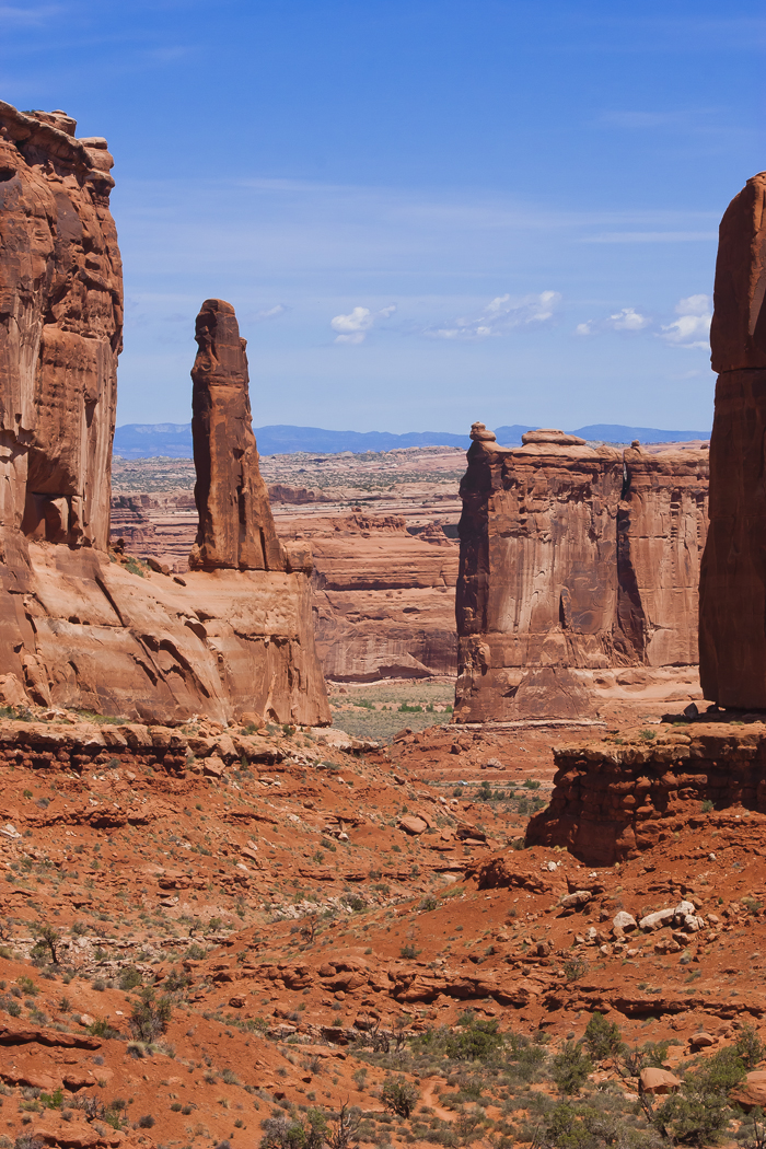 Park Avenue in the Arches National Park in Moab, Utah.