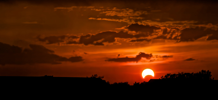 The solar eclipse of May 20, 2012 as seen from Northwest Indiana.