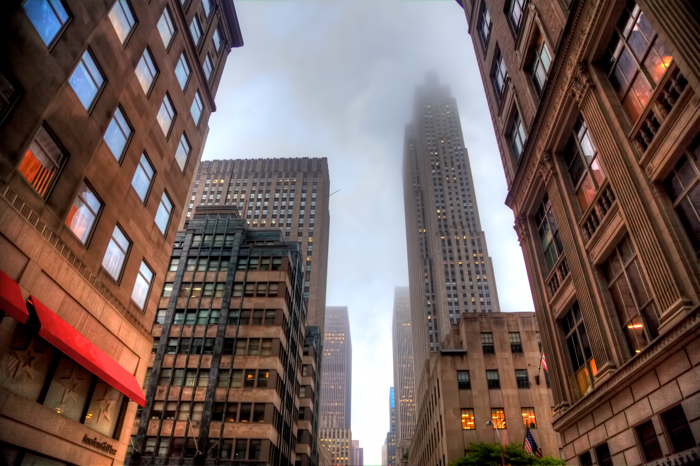 New York City Buildings with Rockefeller Center