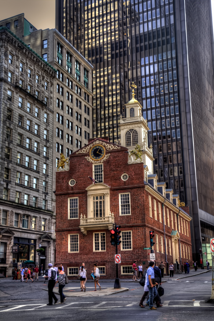 The historic Old State House in downtown Boston.