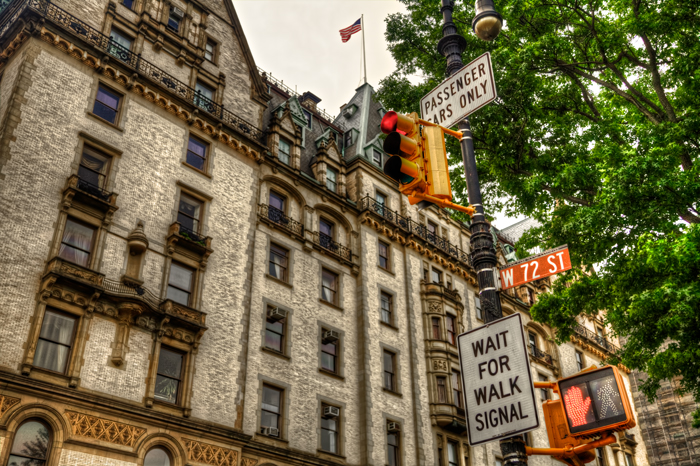 The Dakota apartments and residence in New York City at Central Park West and W 72nd Street.