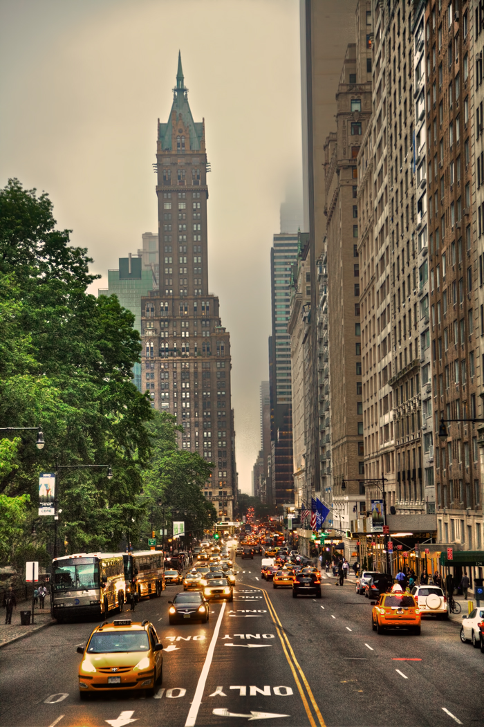 Photo of Central Park South in New York City