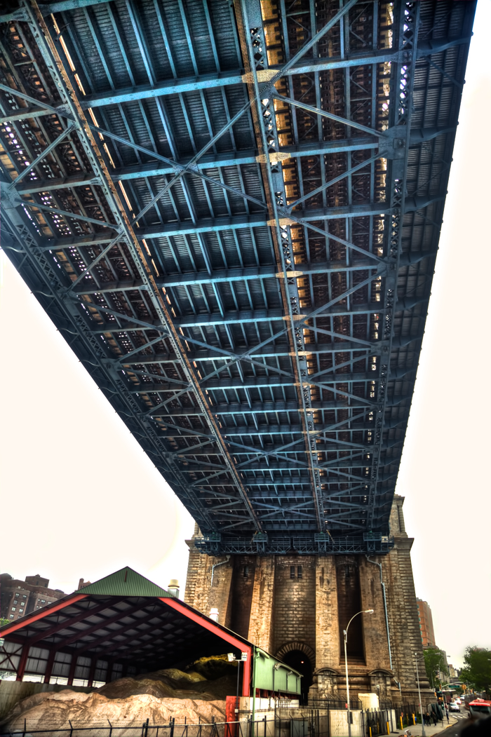 Underneath the Manhattan Bridge in New York City