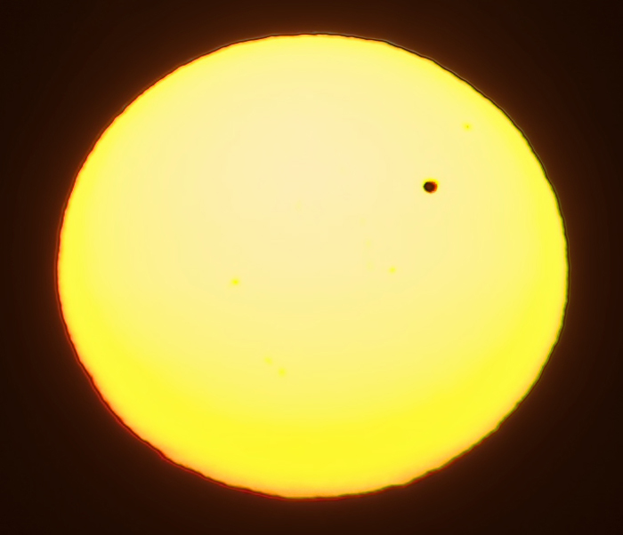 The final Venus transit over the sun for over one hundred years.