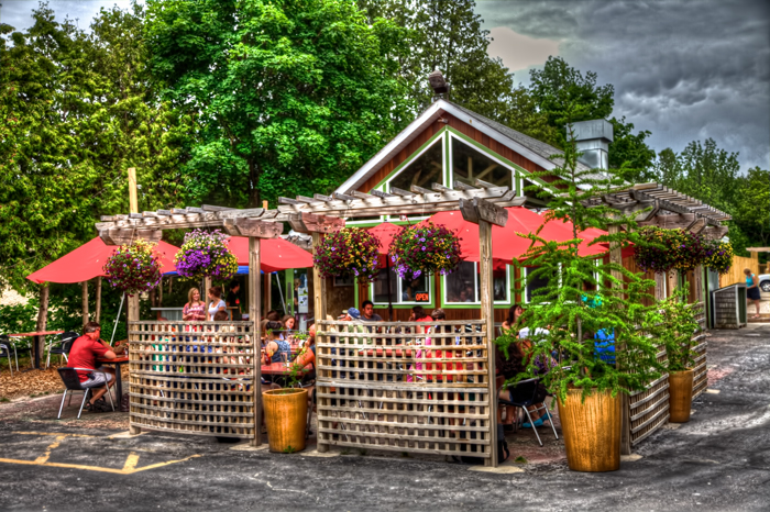 Wild Tomato Wood-Fired Pizza and Grille in Fish Creek, Wisconsin in Door County.