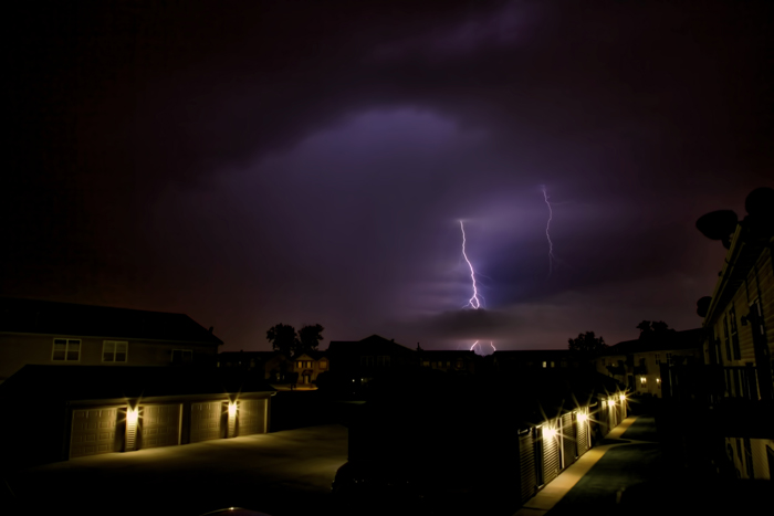 Storms passing through Chicago and NW Indiana on July 18, 2012.
