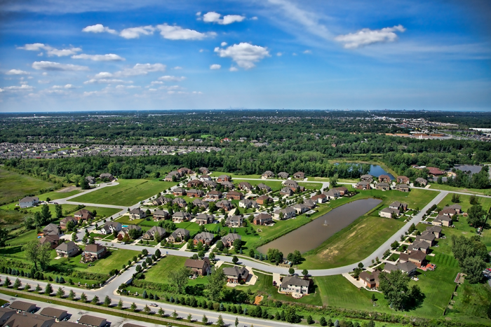 Aerial Photo of Stone Bridge Estates in Schererville, Indiana