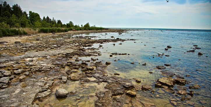Toft Point State Park in Door County, Wisconsin