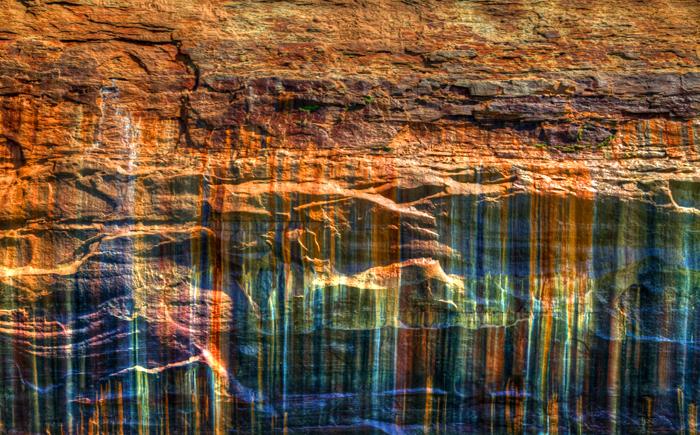 Painted Rocks National Park near Munising, Michigan