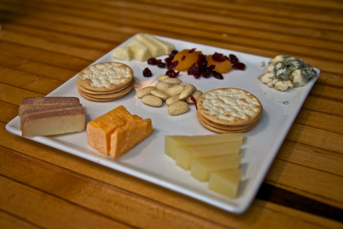 Cheese platter from Wisconsin Cheese Mart