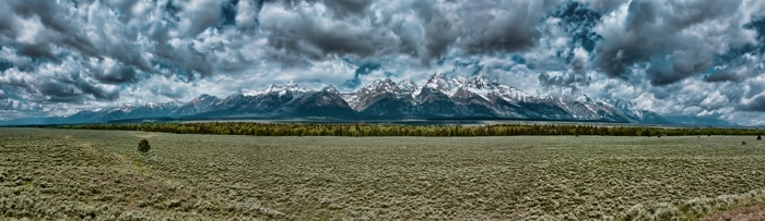Grand Teton National Park Panoramic Photo