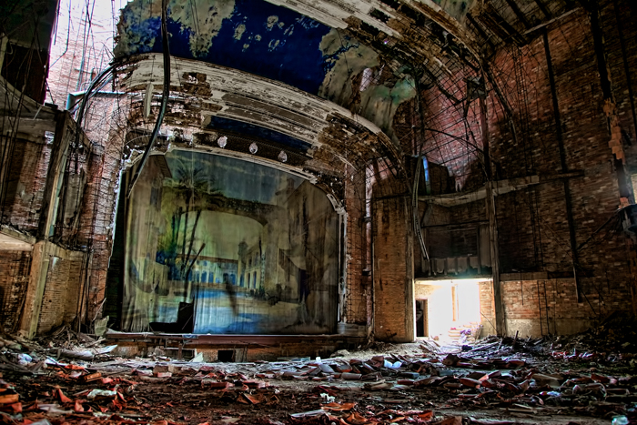 The ruins of the Palace Theater in Gary, Indiana