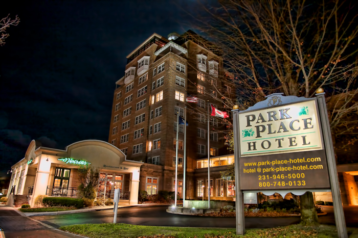 The Park Place Hotel in downtown Traverse City, Michigan