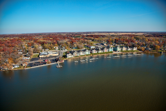 Aerial photo of Cedar Lake, Indiana.
