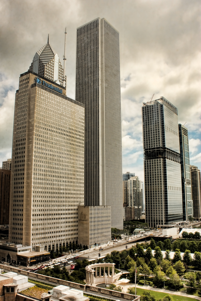 Chicago's Prudential Building and Aon Center