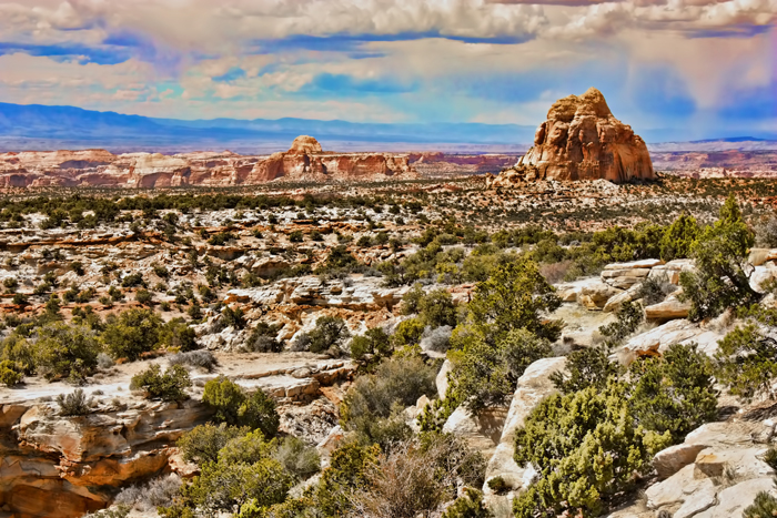 Utah landscape and rocky terrain.