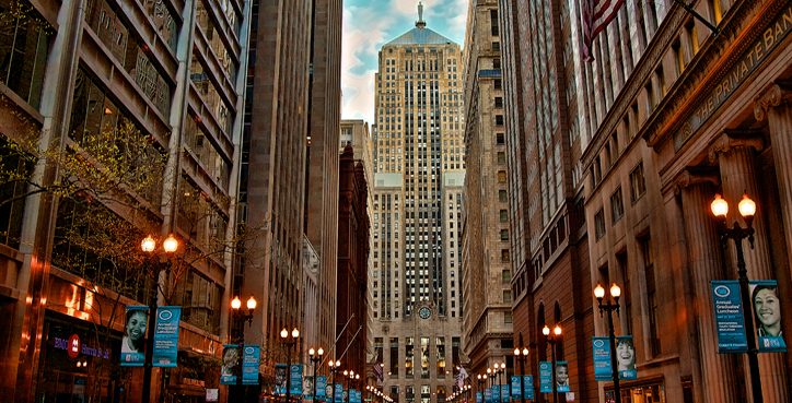 Chicago's Financial District – The LaSalle Canyon