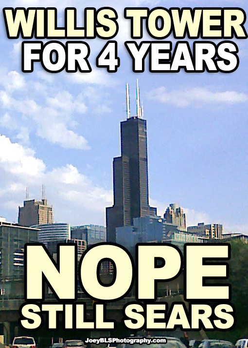 Sears Tower meme, Willis Tower.