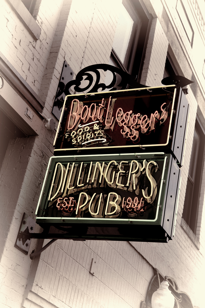 Boot Leggers and Dillinger's Pub in Traverse City, Michigan