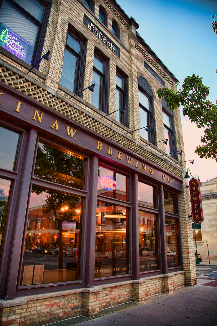 The Mackinaw Brewing Company on Front Street in Traverse City, Michigan.