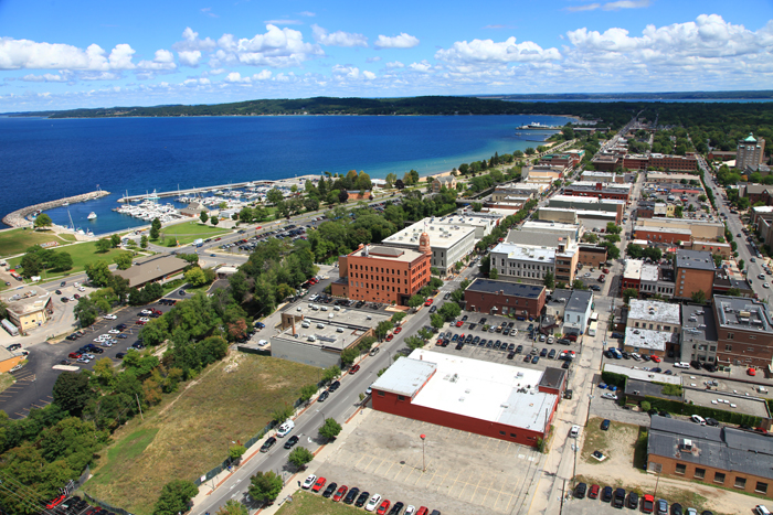 Aerial photo of Traverse City