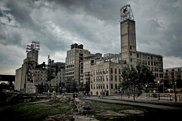 The historic Mill City Museum in downtown Minneapolis, Minnesota.
