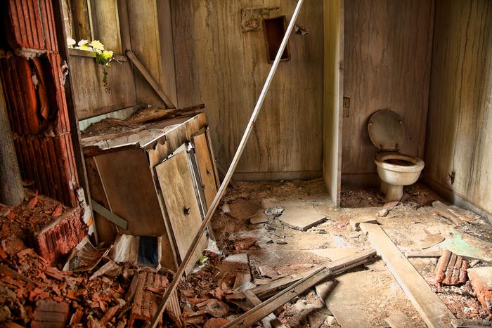 Abandoned Bathroom in an Old Church