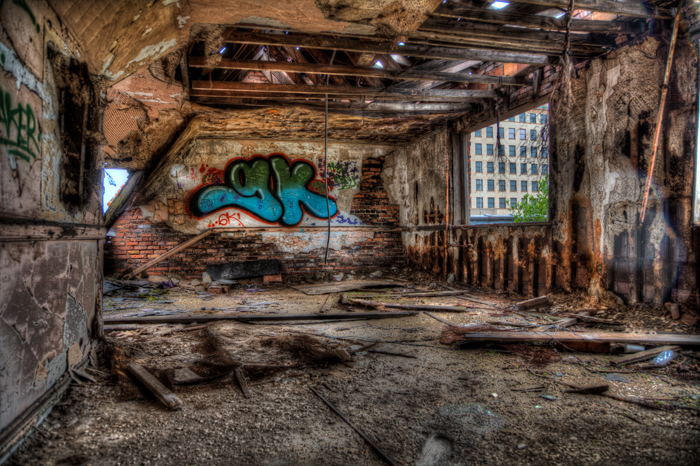 Urban Exploration Graffiti in Abandoned Buildings
