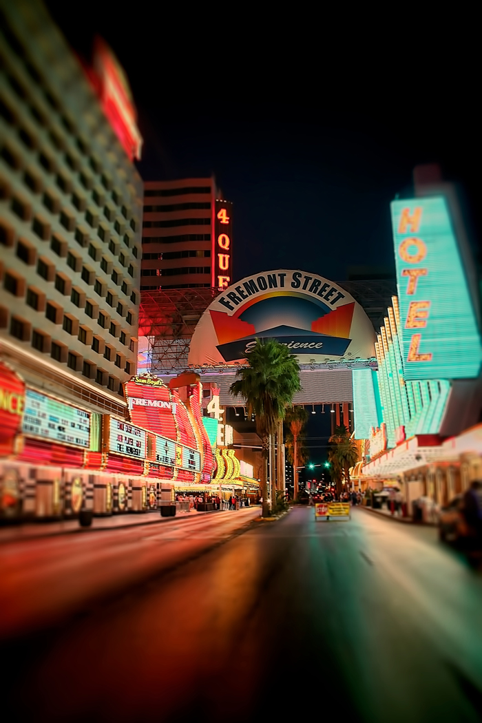 The Streets of downtown Las Vegas, Nevada