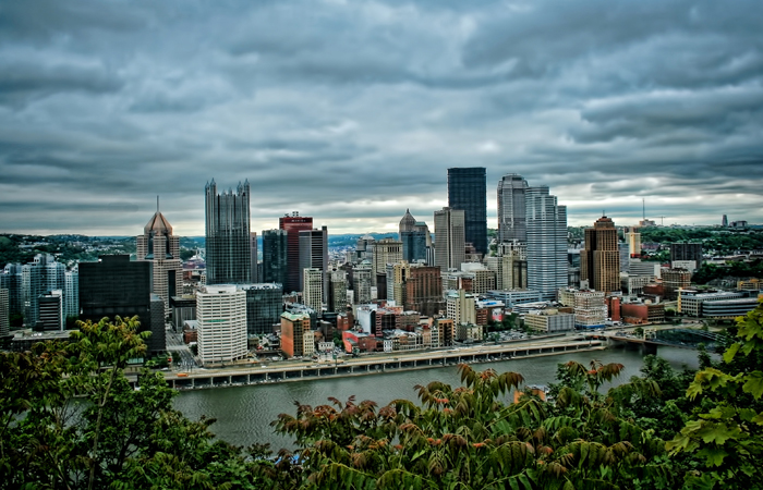 Downtown Pittsburgh, Pennsylvania from Mount Washington