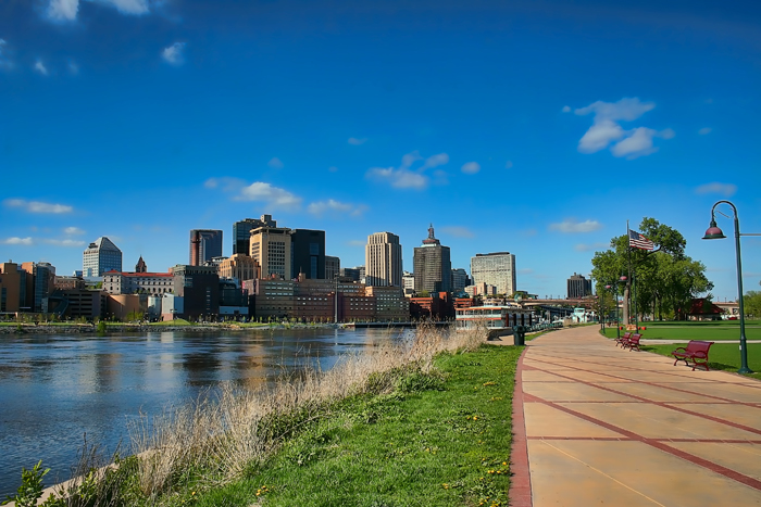 The downtown St. Paul, Minnesota skyline.