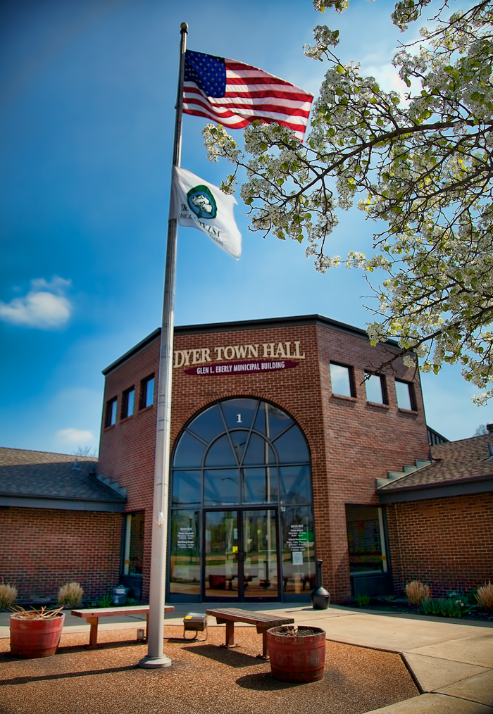 The Dyer, Indiana Town Hall in Northwest Indiana.