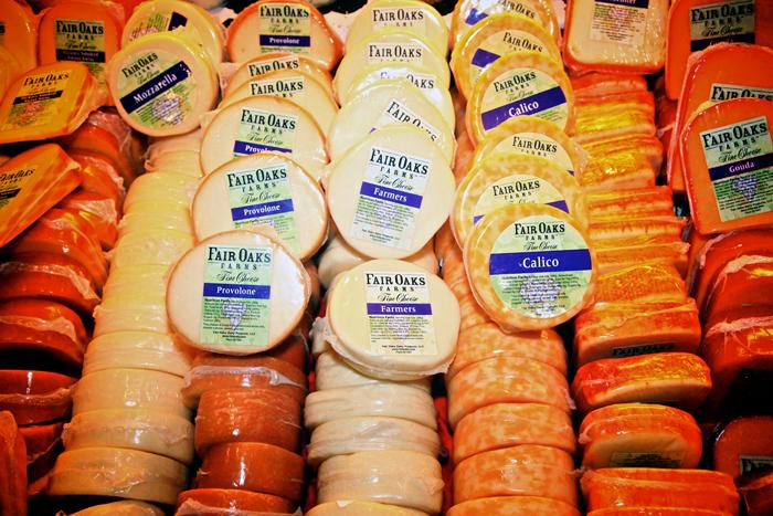 Fair Oaks Farms cheese varieties.