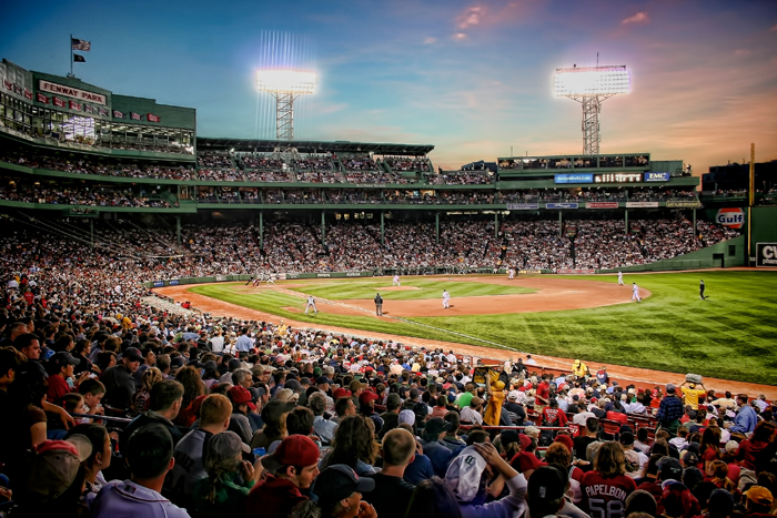 Historic Fenway Park, home of the Boston Red Sox