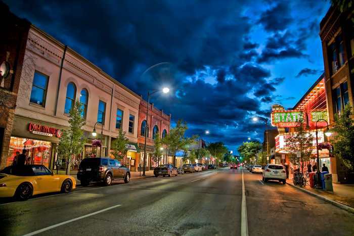 Front Street in Downtown Traverse City, Michigan.