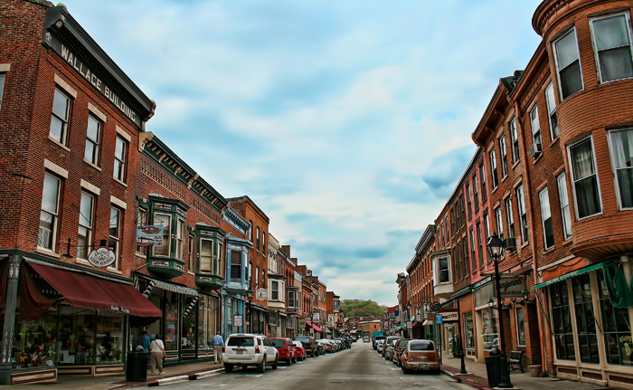 Historic downtown Galena, Illinois