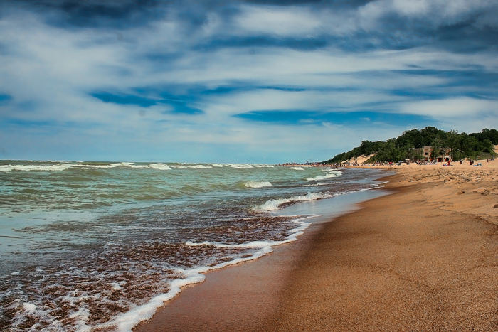 The beaches of the Indiana Dunes National Lakeshore in Chesterton, Indiana