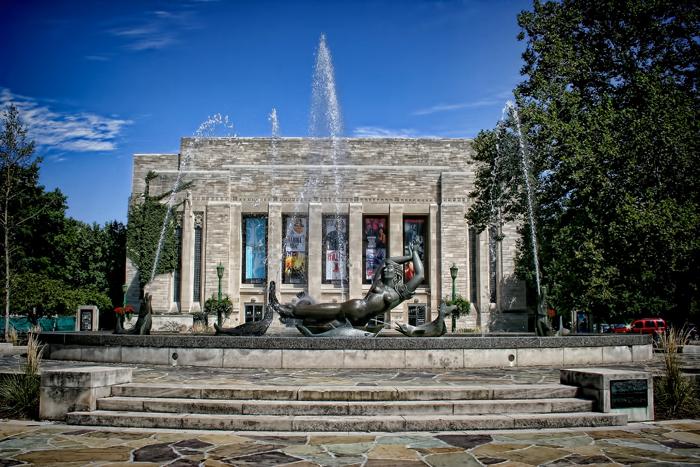 The Showalter Fountain at Indiana University