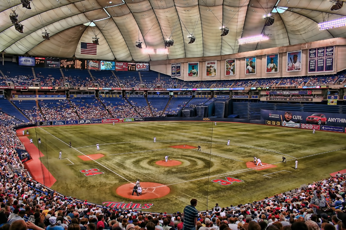 The Metrodome, former home of the Minnesota Twins baseball team in Minneapolis